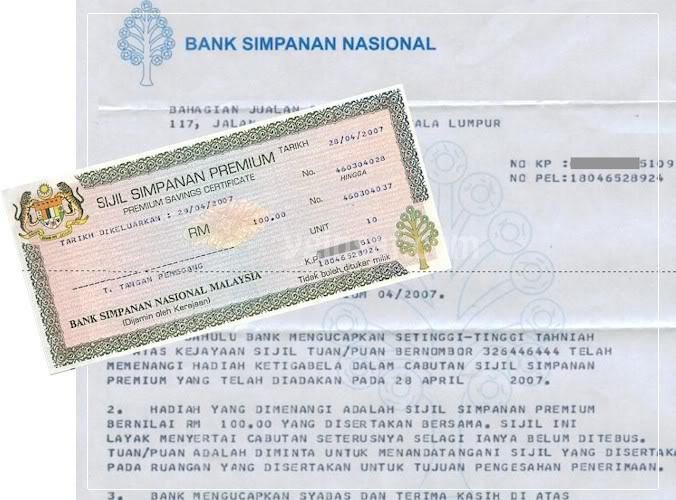 Sijil Simpanan Premium Bank Simpanan Nasional
